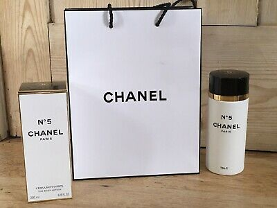 Chanel No 5 Talc 150g + Body Lotion 200ML  PACKAGING ONLY