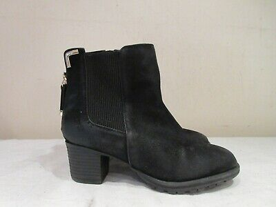 Girls River Island Black Synthetic Heeled Ankle Boots Uk 1 (2054)