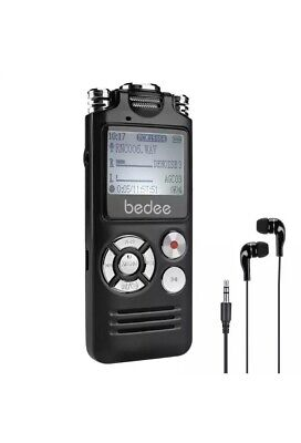 Digital Voice Recorder, bedee 8GB Professional Dictaphone Voice Recorder /mp3