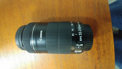 Canon EF-S 55-250mm f/4.0-5.6 IS Lens W/UV filter, Bag and Box