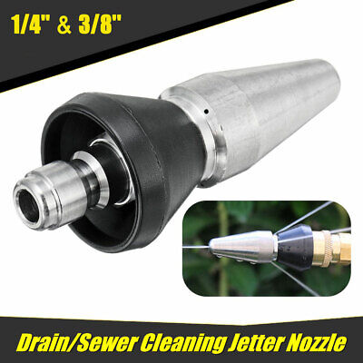 Large Sewer Cleaning Jetting Nozzle Rotary Spinning Drain Sewer Jetter Nozzle