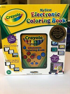 CRAYOLA ELECTRONIC COLORING Book TV Plug & Play Game System 2004 ...