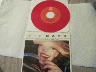 The Cars Just What I Needed 1978 Red Vinyl 7in Powerpop Wave P/S & NM 45