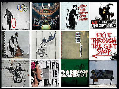 A3//A4 SIZE Banksy Forgive us our Trespasses  WALL DECOR GIFT ART  POSTER # 4