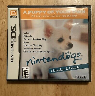 Nintendogs: Chihuahua & Friends (Nintendo DS, 2005) Authentic Game Complete CIB