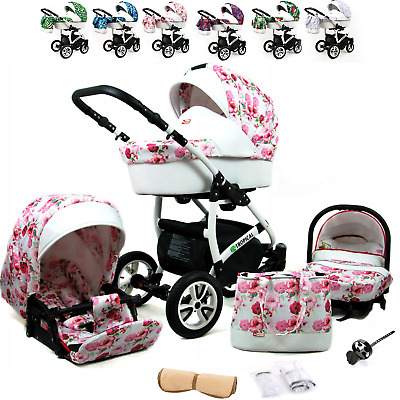 Baby Pram Buggy Pushchair Car Seat Carrycot From Birth  Travel System From Birth