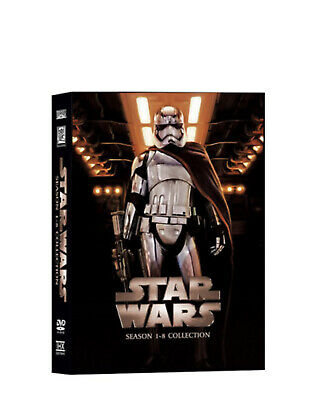 Star Wars Saga Season 1-8 Complete DVD Set Collection 14 Disc- New