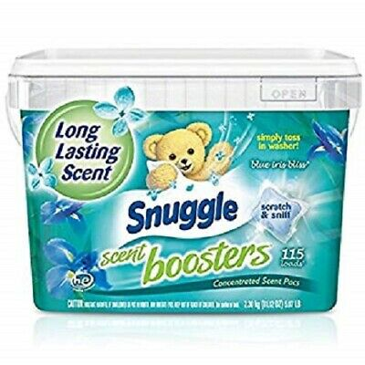 Snuggle Laundry Scent Boosters Concentrated Scent Pacs,Blue Iris Bliss115 Count