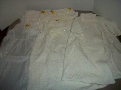 Beautiful Vintage 6 Piece Baby Christening Gown Set