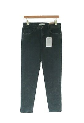 NWT Zara Girls Denim Star Skinny Jeans Black Wash Distressed Size 13-14