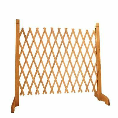 Expanding Portable Fence Wooden Screen Gate Home Outdoor Safety Kid Pet Divider