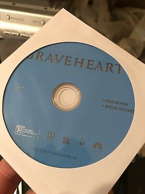 Braveheart (Blu-ray) Movie Disc ONLY! Nothing Else!!!!! READ!!!