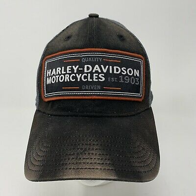 best website f66f5 88365 Harley Davidson New Era 39Thirty Baseball Mesh Fitted Hat w Eagle Size  Med Large
