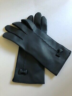 Vintage Gloves Navy Blue Plastic and Rayon Made in Japan One Size