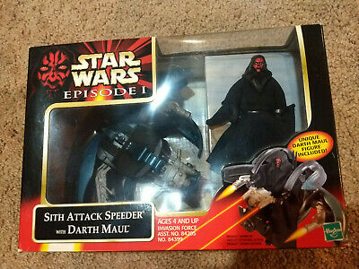 Star Wars Episode I Sith Attack Speeder with Darth Maul - NIB