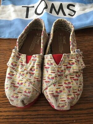 Girls Toddler Size 6 Toms Classic Tiny Toms Shoes