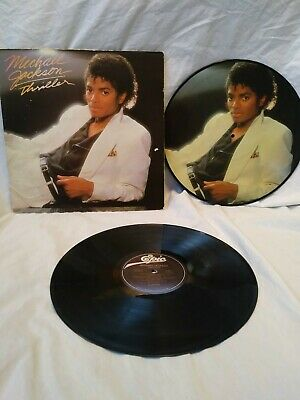 Michael Jackson Epic Record (Thriller) 1982 with rare bonus vinyl