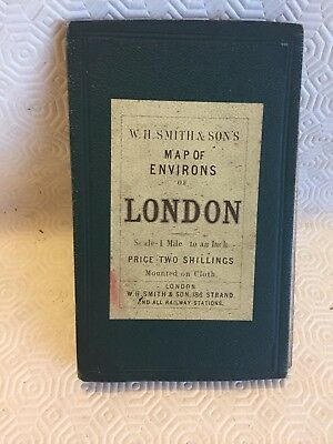 W. H. SMITH MAP OF ENVIRONS OF LONDON price 2/-