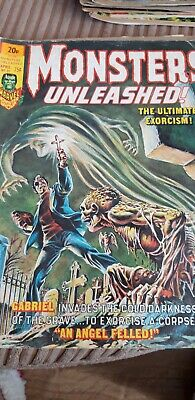 Monsters Unleashed Comics 1970s