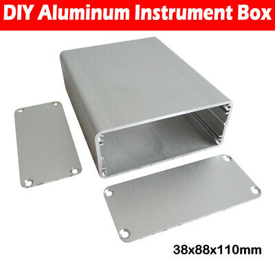 110x88x38mm Aluminum PCB Instrument Box Enclosure Case Electronic Project DIY