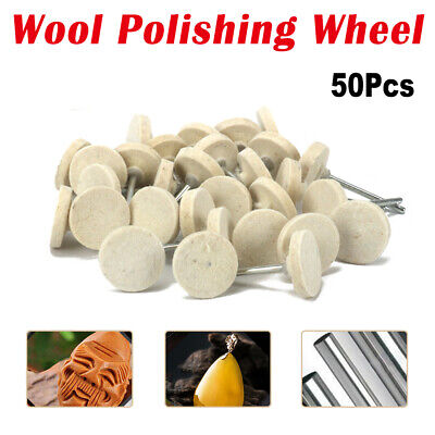 50pcs 25mm/13mm Felt Wool Polishing Buffing Wheel For Grinder Rotary Tools Neu