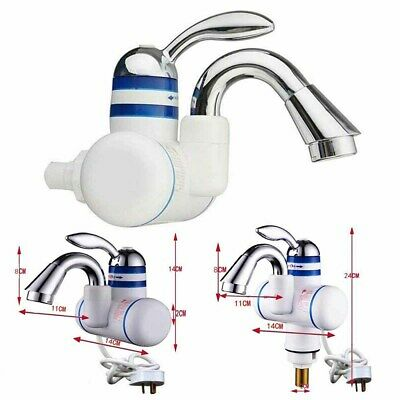Kitchen Bathroom Electric Hot Water Heater Faucet UK Instant Heating Chrome Tap