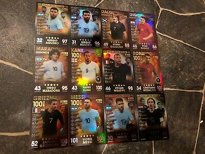 Match Attax 101 2019 100 Club Limited Edition Legends Homegrown Heroes Mint