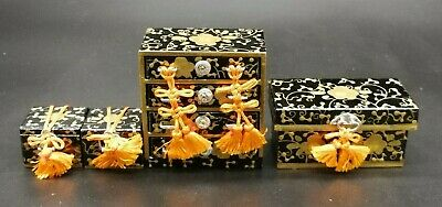 Hina Doll CARRIAGE Accessories Japanese Vtg Dollhouse Furniture/set of 4