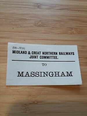 Midland & Great Northern Joint Railway /M&GNR Luggage Label -Massingham