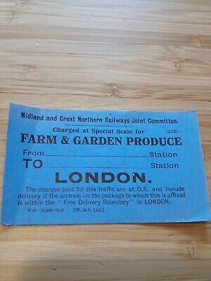 Midland & Great Northern Joint Railway /M&GNR Luggage Label