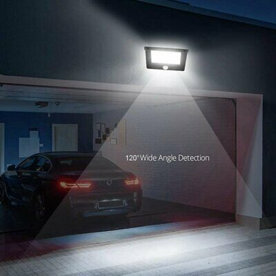 Solar Power Motion Sensor Garden Outdoor Floodlight LED PIR Security Light Save