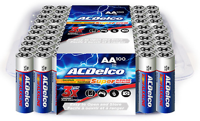 ACDelco AA Batteries Alkaline Battery 100 Count Bulk Pack 100-Count
