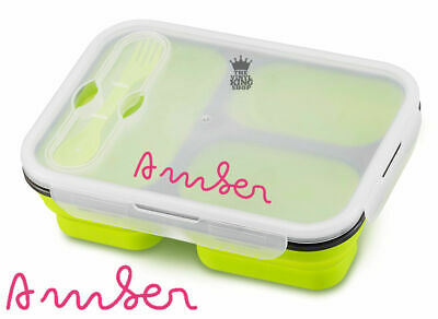 Lunch Box Personalised Name Sticker Love Island Style Decal Custom Snack School