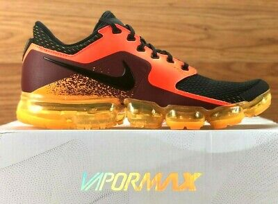 Nike Air Vapormax Running Shoes Crimson / Orange / Black Ah9046-800 New Mens