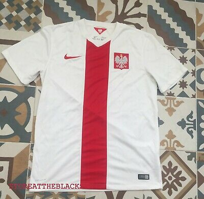 new product 1415a 22770 POLAND NATIONAL TEAM 2014 2015 Home Football Soccer Shirt Jersey Trikot  Nike M