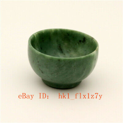 Jade Cups Chinese Hand Carved Jade Tea Cups Natural Jade Small Tea Bowls A03