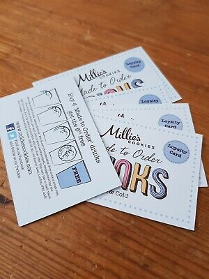 Millie Cookie Loyalty Drink cards x5...