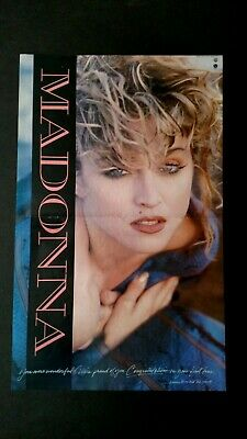 Madonna Congratulations On Your First Tour. Rare Original Print Promo Poster Ad