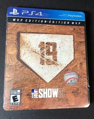 MLB The Show 19 MVP Edition [ STEELBOOK Package ] (PS4) NEW