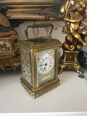 French Repeating Carriage Clock In The Most Beautiful Engraved Gorge Case C1880