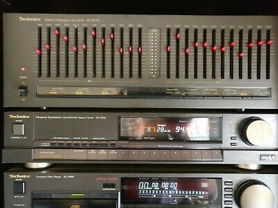 High End Technics SH-8020 Stereo Frequency Equalizer (EQ) Sound Processor