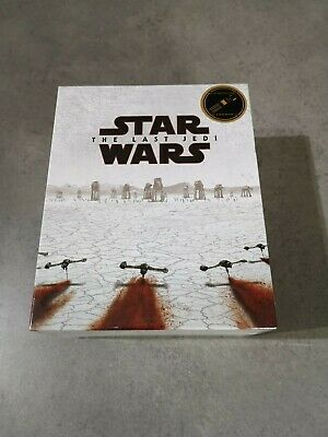 Star Wars The Last Jedi Blufans 3D bluray steelbook tripack boxset New & Sealed