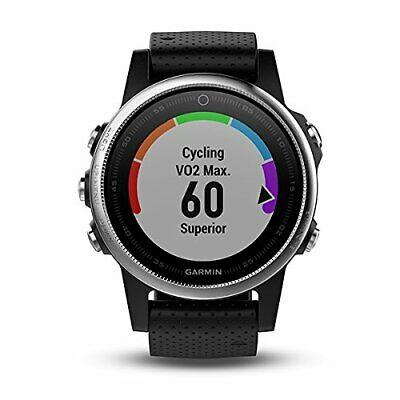 Garmin Fenix 5S Multisport GPS Watch Navigation Heart Rate Monitor Silver Black