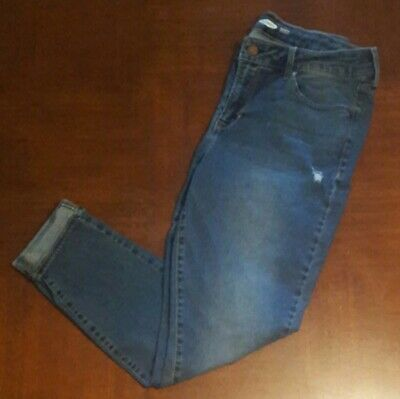 933a1ac820b Women 12 Old Navy Mid-Rise Distressed Rockstar Super Skinny Jeans Reg or  Cropped