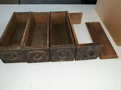 4 Antique Singer Treadle Sewing Machine Cabinet Drawers Antique Oak Ornate