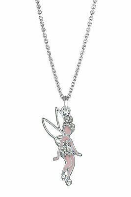 CHILDREN's Girls kids Jewellery Tinkerbell Fairy Necklace Sterling Silver Chain