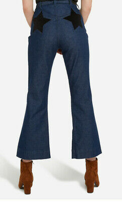 610dffa0 WRANGLER High Rise Indigo Crop Star Flare Jeans W28 - new with tags