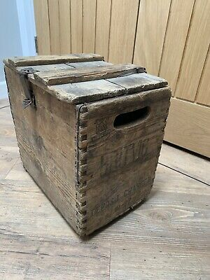 Vintage Britvic Wooden Crate Style Box With Lid