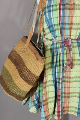 Large Natural African Organic Sisal Leather Kiondo Tote Basket bag 1-B Fee Post