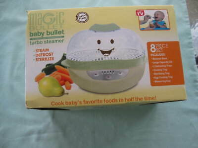 Baby Bullet Turbo Steamer / Steam / Defrost / Sterilize -New